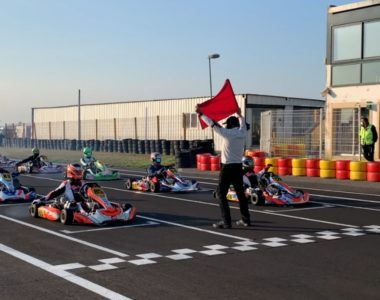 départ compétition karting
